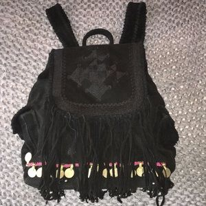 Simone Camille Suede Backpack